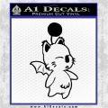 Final Fantasy Moogle Decal Sticker Video Games Black Logo Emblem 120x120