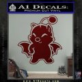 Final Fantasy Moogle Full Body Dark Red Vinyl 120x120