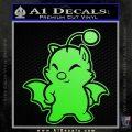 Final Fantasy Moogle Full Body Lime Green Vinyl 120x120