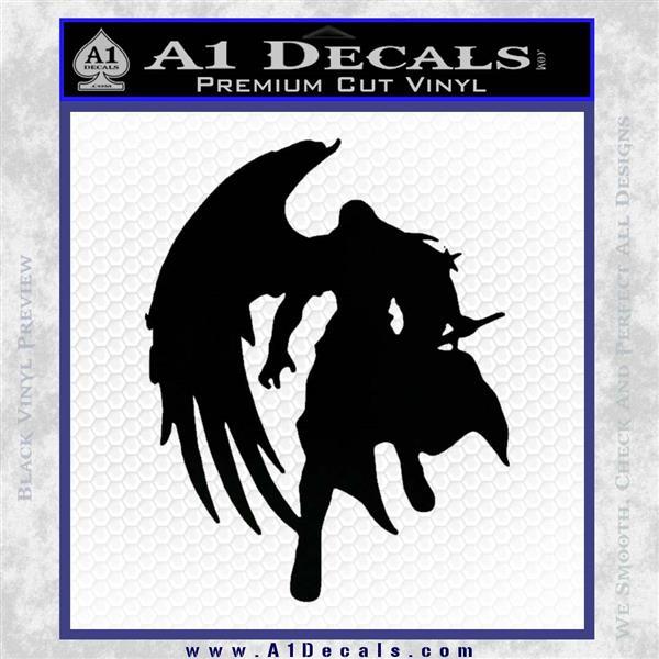 Final Fantasy Sephiroth Wings Decal Sticker Black Logo Emblem