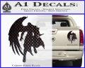 Final Fantasy Sephiroth Wings Decal Sticker Carbon Fiber Black 120x97