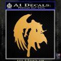 Final Fantasy Sephiroth Wings Decal Sticker Metallic Gold Vinyl 120x120