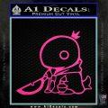 Final Fantasy Summon Tonberry Decal Sticker Hot Pink Vinyl 120x120