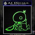 Final Fantasy Summon Tonberry Decal Sticker Lime Green Vinyl 120x120