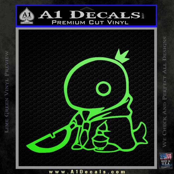 Final Fantasy Summon Tonberry Decal Sticker Lime Green Vinyl