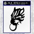 Final Fantasy Wolf Head Decal Sticker Black Logo Emblem 120x120