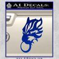 Final Fantasy Wolf Head Decal Sticker Blue Vinyl 120x120