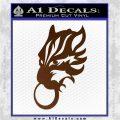 Final Fantasy Wolf Head Decal Sticker Brown Vinyl 120x120