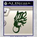 Final Fantasy Wolf Head Decal Sticker Dark Green Vinyl 120x120