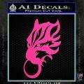 Final Fantasy Wolf Head Decal Sticker Hot Pink Vinyl 120x120