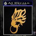 Final Fantasy Wolf Head Decal Sticker Metallic Gold Vinyl 120x120