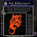 Final Fantasy Wolf Head Decal Sticker Orange Vinyl Emblem 120x120