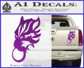 Final Fantasy Wolf Head Decal Sticker Purple Vinyl 120x97