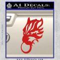 Final Fantasy Wolf Head Decal Sticker Red Vinyl 120x120