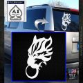 Final Fantasy Wolf Head Decal Sticker White Emblem 120x120
