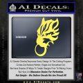 Final Fantasy Wolf Head Decal Sticker Yelllow Vinyl 120x120
