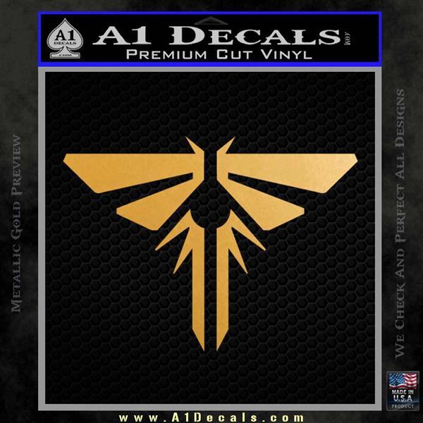 Firefly Icon The Last of Us SXC Decal Sticker Metallic Gold Vinyl