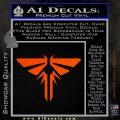 Firefly Icon The Last of Us SXC Decal Sticker Orange Vinyl Emblem 120x120