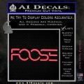 Foose Wheels Logo Vinyl Decal Sticker Pink Vinyl Emblem 120x120