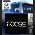 Foose Wheels Logo Vinyl Decal Sticker White Emblem 120x120