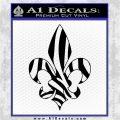 French Cross Fluer De Lis Zebra Decal Sticker Black Logo Emblem 120x120
