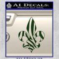 French Cross Fluer De Lis Zebra Decal Sticker Dark Green Vinyl 120x120