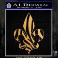 French Cross Fluer De Lis Zebra Decal Sticker Metallic Gold Vinyl 120x120