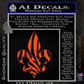 French Cross Fluer De Lis Zebra Decal Sticker Orange Vinyl Emblem 120x120
