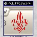 French Cross Fluer De Lis Zebra Decal Sticker Red Vinyl 120x120