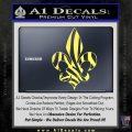 French Cross Fluer De Lis Zebra Decal Sticker Yelllow Vinyl 120x120