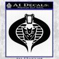GI Joe Cobra Decepticon Decal Sticker D2 Black Logo Emblem 120x120