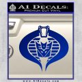 GI Joe Cobra Decepticon Decal Sticker D2 Blue Vinyl 120x120