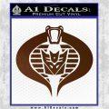 GI Joe Cobra Decepticon Decal Sticker D2 Brown Vinyl 120x120