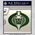 GI Joe Cobra Decepticon Decal Sticker D2 Dark Green Vinyl 120x120