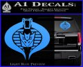 GI Joe Cobra Decepticon Decal Sticker D2 Light Blue Vinyl 120x97