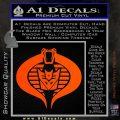 GI Joe Cobra Decepticon Decal Sticker D2 Orange Vinyl Emblem 120x120