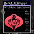 GI Joe Cobra Decepticon Decal Sticker D2 Pink Vinyl Emblem 120x120