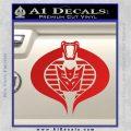 GI Joe Cobra Decepticon Decal Sticker D2 Red Vinyl 120x120
