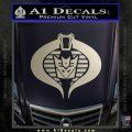 GI Joe Cobra Decepticon Decal Sticker D2 Silver Vinyl 120x120