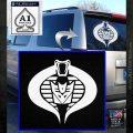 GI Joe Cobra Decepticon Decal Sticker D2 White Emblem 120x120
