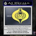 GI Joe Cobra Decepticon Decal Sticker D2 Yelllow Vinyl 120x120