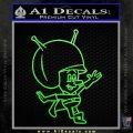 Great Gazoo Alien Decal Sticker VZL Lime Green Vinyl 120x120