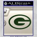 Green Bay Packers Decal Sticker OV1 Dark Green Vinyl 120x120