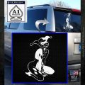 Harley Quin Sexy Pose Decal Sticker White Emblem 120x120