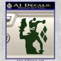 Harley Quinn D8 Decal Sticker Dark Green Vinyl 120x120