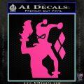 Harley Quinn D8 Decal Sticker Hot Pink Vinyl 120x120
