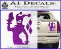 Harley Quinn D8 Decal Sticker Purple Vinyl 120x97