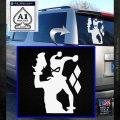 Harley Quinn D8 Decal Sticker White Emblem 120x120