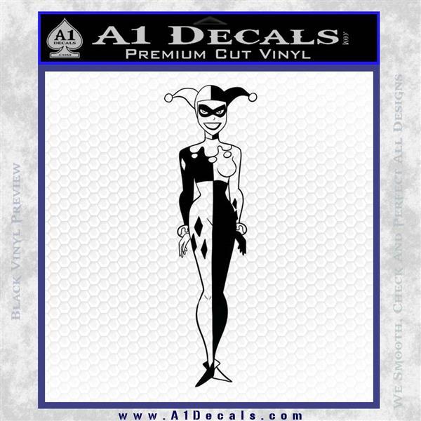 Harley Quinn DS Decal STicker Black Logo Emblem