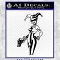 Harley Quinn Int Decal Sticker Black Logo Emblem 120x120